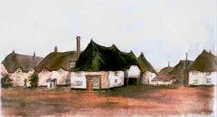 Witheridge Square watercolour